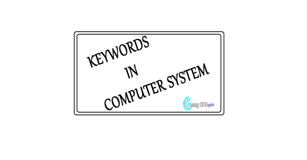 Keywords in Computer System gang of crypto