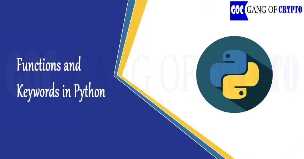 Functions and Keywords in Python