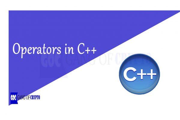 operatorss in C++ - gangofcrypto